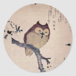 Cute Japanese Smiling Owl Stickers