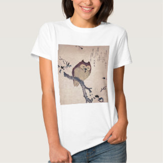 Cute Japanese Smiling Owl T Shirts