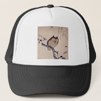 Cute Japanese Smiling Owl Trucker Hat