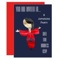 Cute Japanese themed Japan party Invitation