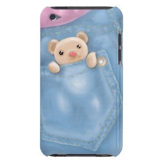 cute jeans pocket teddy bear iPod Case-Mate case