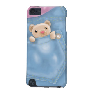 cute jeans pocket teddy bear iPod touch (5th generation) case