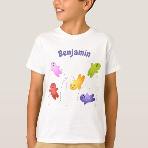 Cute jelly babies sweets candy cartoon T_Shirt