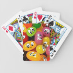 Cute Jelly Bean Smileys Bicycle Playing Cards