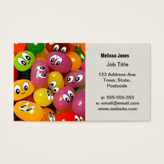 Cute Jelly Bean Smileys Business Card