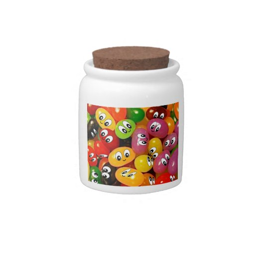 Cute Jelly Bean Smileys Candy Dish