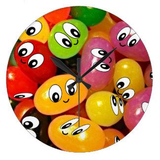 Cute Jelly Bean Smileys Clock