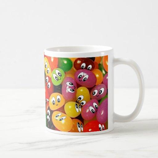 Cute Jelly Bean Smileys Coffee Mug