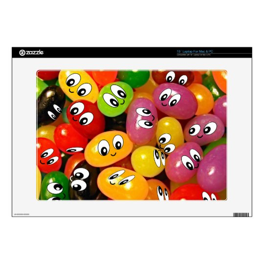 Cute Jelly Bean Smileys Decal For Laptop