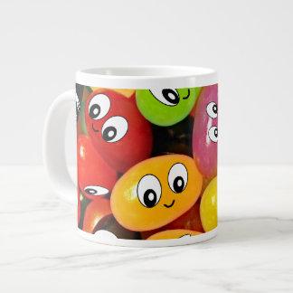 Cute Jelly Bean Smileys Giant Coffee Mug