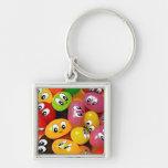 Cute Jelly Bean Smileys Keychain