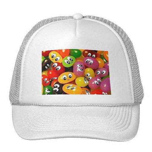 Cute Jelly Bean Smileys Mesh Hat
