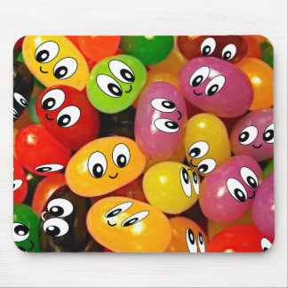 Cute Jelly Bean Smileys Mouse Pad