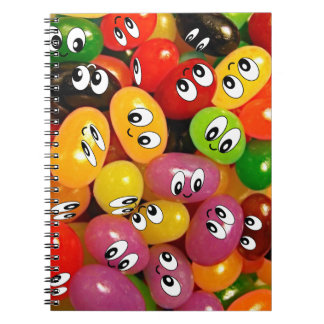 Cute Jelly Bean Smileys Note Books