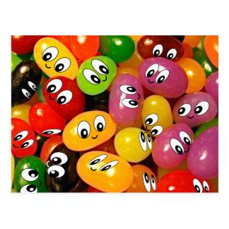 Cute Jelly Bean Smileys Postcard
