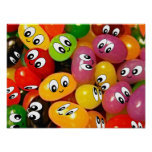 Cute Jelly Bean Smileys Posters