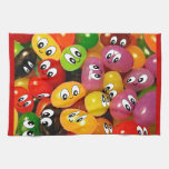 Cute Jelly Bean Smileys Towels