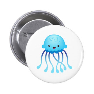 cute jelly fish button