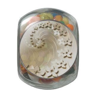 cute jellybean jar!! glass candy jars