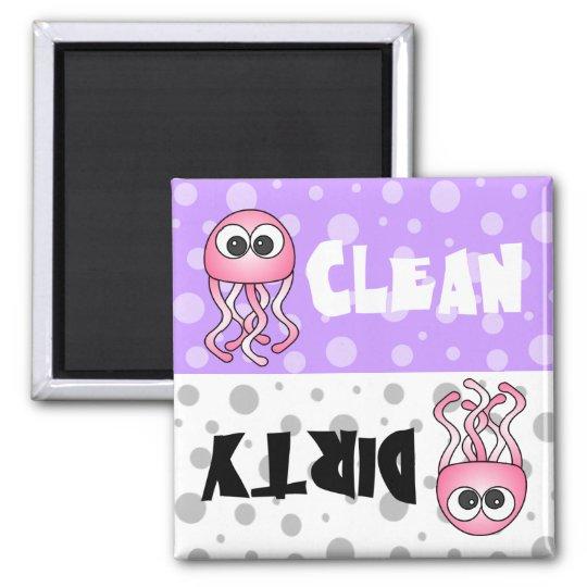 Cute Jellyfish Clean / Dirty Dishwasher Magnet
