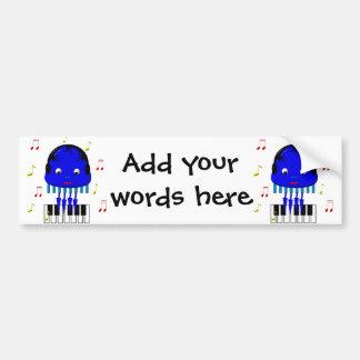 Cute Jellyfish Jamming Bumper Sticker