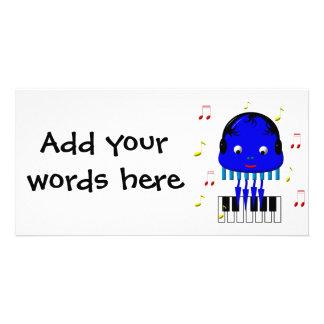 Cute Jellyfish Jamming Card