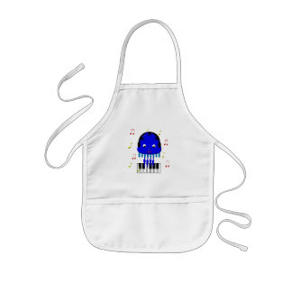 Cute Jellyfish Jamming Kids' Apron