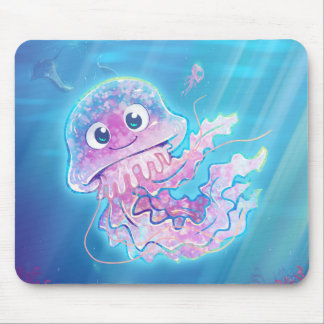 Cute Jellyfish Mouse Pad