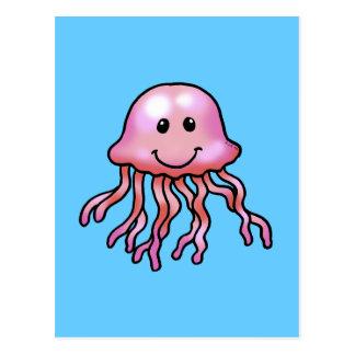 Cute jellyfish postcard