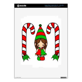 Cute Jester Christmas girl iPad 3 Skins