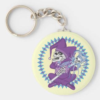 Cute Jester Skull Keychain