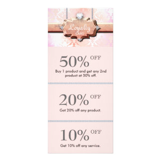 Cute Jewelry Discount Loyalty Cards Pink
