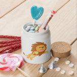 Cute Joyful Cartoon Lion Candy Jar