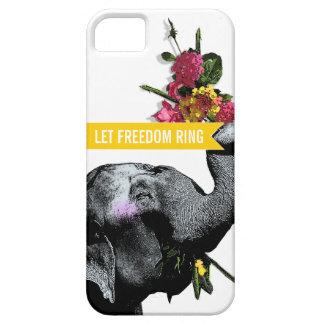 Cute Joyful Elephant - Let Freedom Ring! iPhone 5 Cover