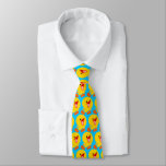 Cute Joyous Cartoon Duckling (Half Brick)Tie Tie