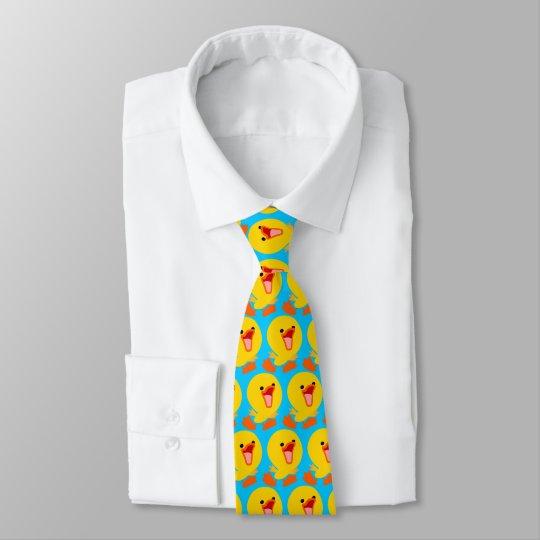 Cute Joyous Cartoon Duckling (Half Brick)Tie Tie