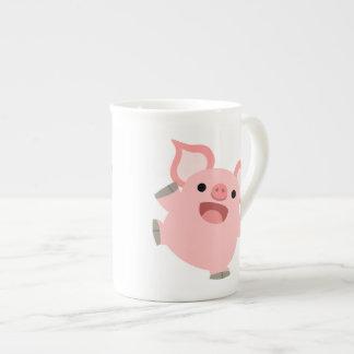 Cute Joyous Cartoon Pig Tea Cup