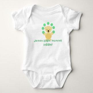 Cute juggling  bear, baby bodysuit