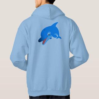 Cute Jumping Cartoon Dolphin Hoodie