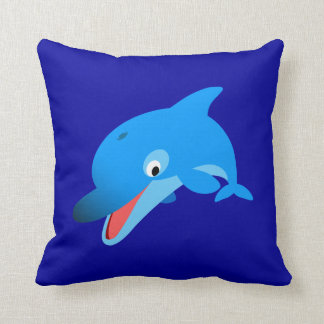Cute Jumping Cartoon Dolphin Pillow
