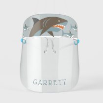 Cute Jumping Shark Personalized Kids' Face Shield