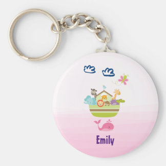 Cute Jungle Animal Ark with a Butterfly and Whale Keychain