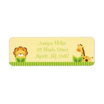 Cute Jungle Animal Baby Shower Address Label