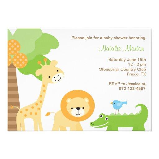 Cute Jungle Animal Invitations