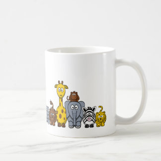 CUTE JUNGLE ANIMALS ADD YOUR TEXT CLASSIC WHITE COFFEE MUG