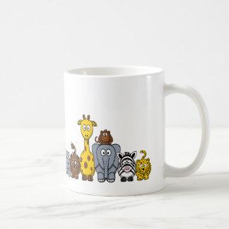 CUTE JUNGLE ANIMALS ADD YOUR TEXT COFFEE MUG