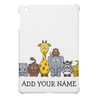 CUTE JUNGLE ANIMALS ADD YOUR TEXT iPad MINI COVER