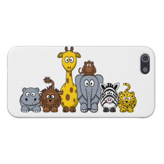 CUTE JUNGLE ANIMALS ADD YOUR TEXT iPhone 5/5S CASES