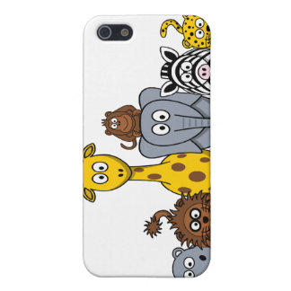 CUTE JUNGLE ANIMALS ADD YOUR TEXT iPhone 5/5S COVERS