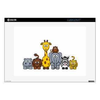 CUTE JUNGLE ANIMALS ADD YOUR TEXT LAPTOP DECAL